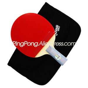 Image 5 - DHS 6 כוכב טניס שולחן מחבט (6002, 6006) עם גומי (הוריקן 8, Tinarc) + שקית סט Orignal DHS 6 כוכב פינג פונג בת