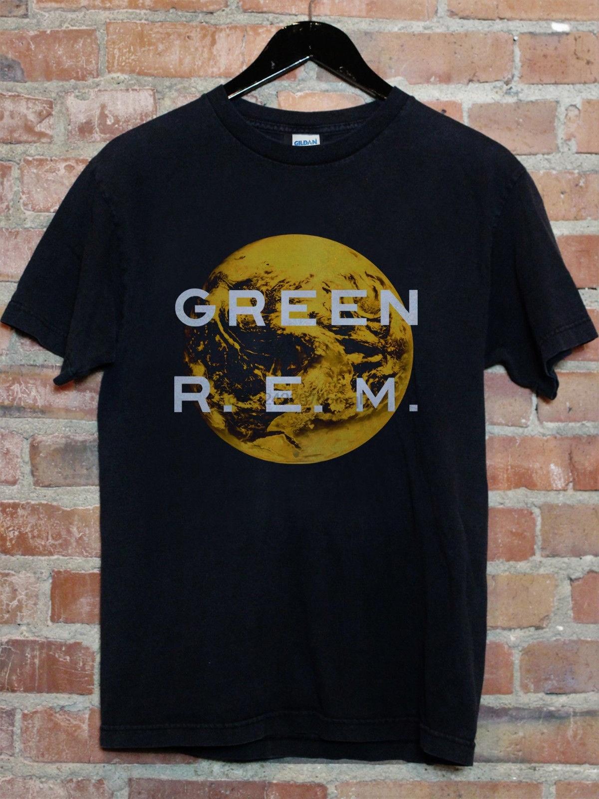 REM t shirt S M L XL 2XL 3XL people green murmur