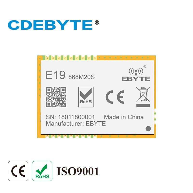Ebyte E19-868M20S SX1276 LoRa 868MHz IoT Module SMD 100mW SPI Long Range Stamp Hole Wireless Transceiver