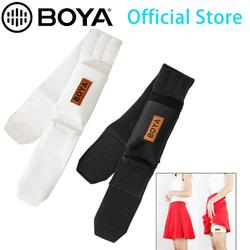 BOYA BY-MB2 Wireless Mic Belts Set Bodypack Carrier Straps with Pouch for Wireless Microphone Transmitter (Black and Beige)