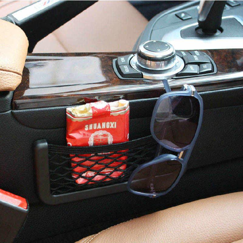 Samochód uniwersalny odporne schowek w fotelu netto uchwyt na torebkę organizer kieszeniowy oparcie siedzenia bagażnika z tyłu elastyczne stringi klatka z siatki 2019 nowy Y7