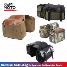 цена на Motorcycle Tool Bag Saddlebags Luggage bags For Touring Softail Sportster 883 Dyna For Kawasaki For Honda For Suzuki For Yamaha