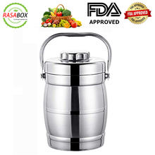 RASABOX - Large Capacity 70 Once / 2000ml Vacuum Insulated Camping Food Jar for Picnic, Stainless Steel