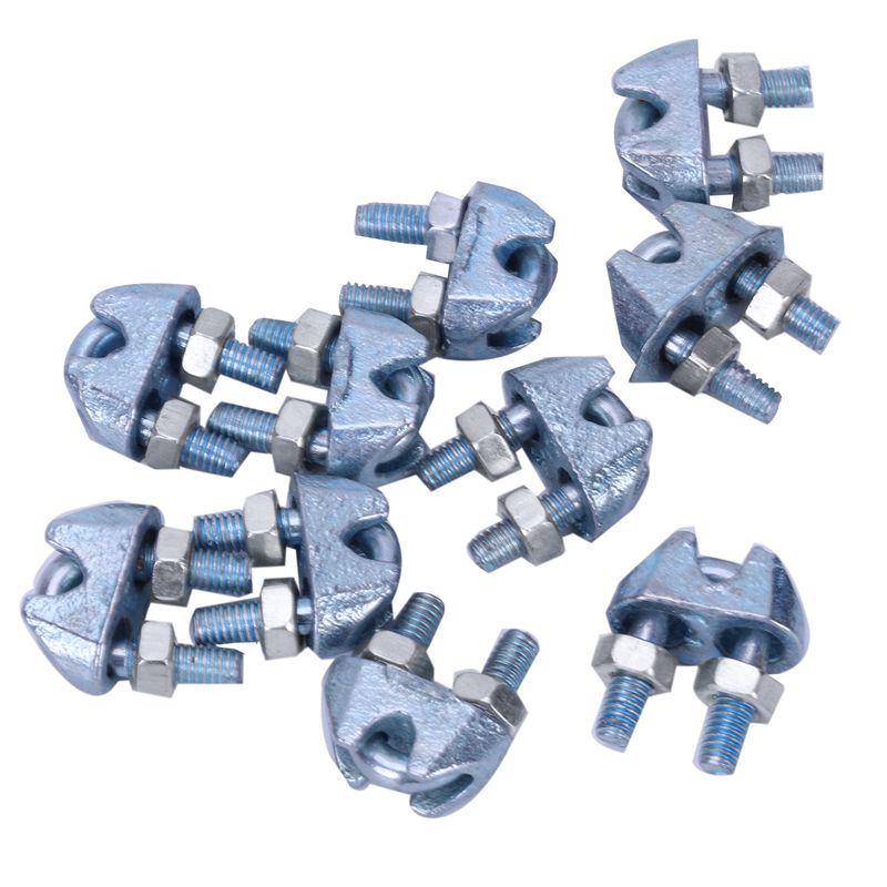 10pcs 3mm Wire Rope Grips