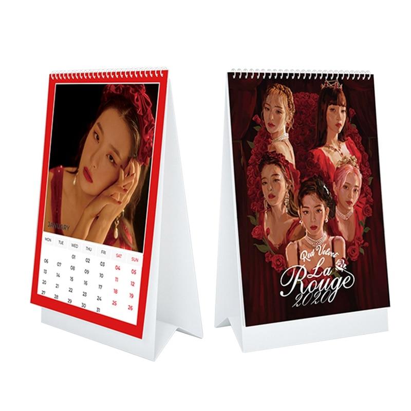 Kpop Red Velvet 2020 Desktop Calendar Wendy Irene Daily Scheduler Table Planner HD Photo Pictures La Rogue Yearly Agenda