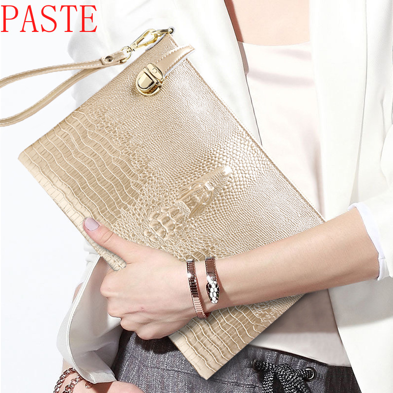 Soft Genuine Leather Women Clutch Bags Chain Shoulder Bag Real Cowhide Purse Classic Girl Gift Organizer Evening Party Handbags