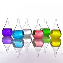 Transparent Droplet Storm Glass Water Drop Weather Storm Forecast Predictor Monitor Bottle Barometer Home Stylish Desktop