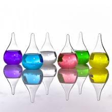 Прозрачная капельница, шторм, стекло, капля воды, погода, шторм, прогноз, монитор, бутылка, барометр, домашний стильный декор для рабочего сто...