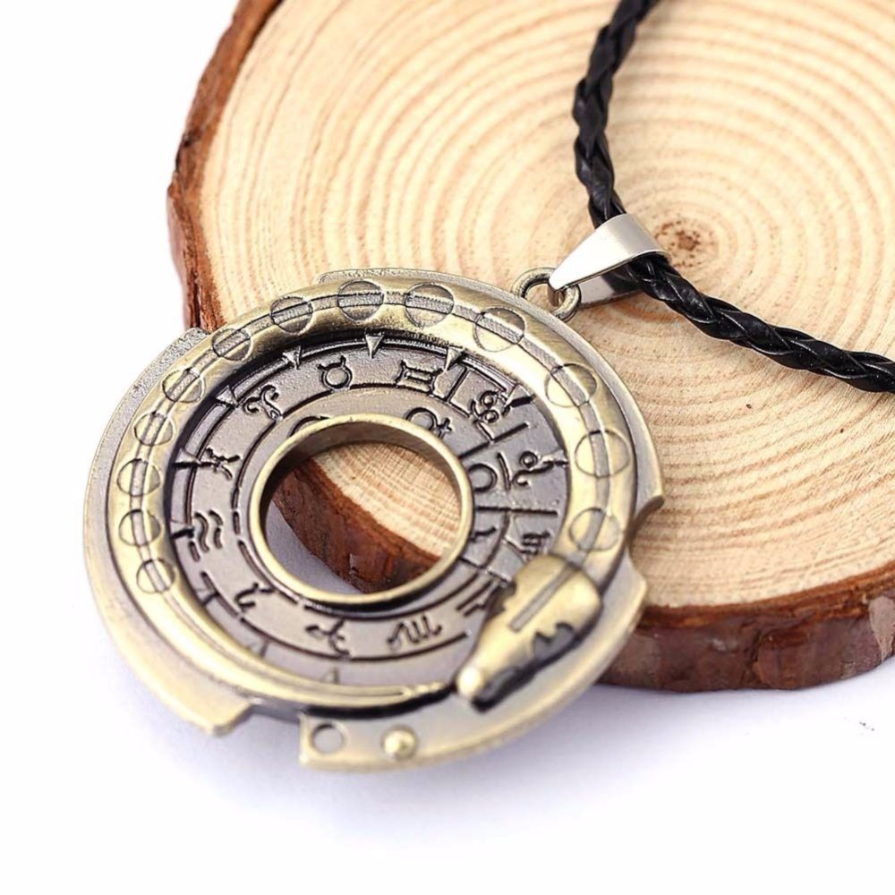 Fashion Ouroboros Snake Rune Round Rope Leather Necklaces & Pendants 1