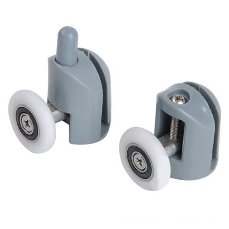 8pcs/set Bathroom Shower Door Sliding Cabins Pulley Castor Enclosures Runners Upper Lower Rollers Wheels-2