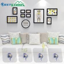 4 шт./компл. декоративная картина, фоторамка, подвесной крючок, настенная крепкая присоска для ванной комнаты, приклеивающийся гвоздь
