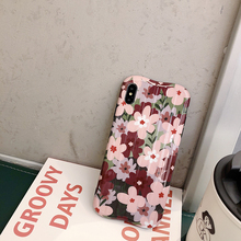 Vintage Flower & Leaf Phone Cases For iPhone XR XS Max 6 6S 7 8 Plus X Beautiful Floral Cover Fashion Wave design Soft