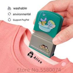 Amor personalizado-feito nome do bebê selo diy para crianças nome selo estudante roupas capítulo não é fácil de desaparecer segurança nome selo adesivo