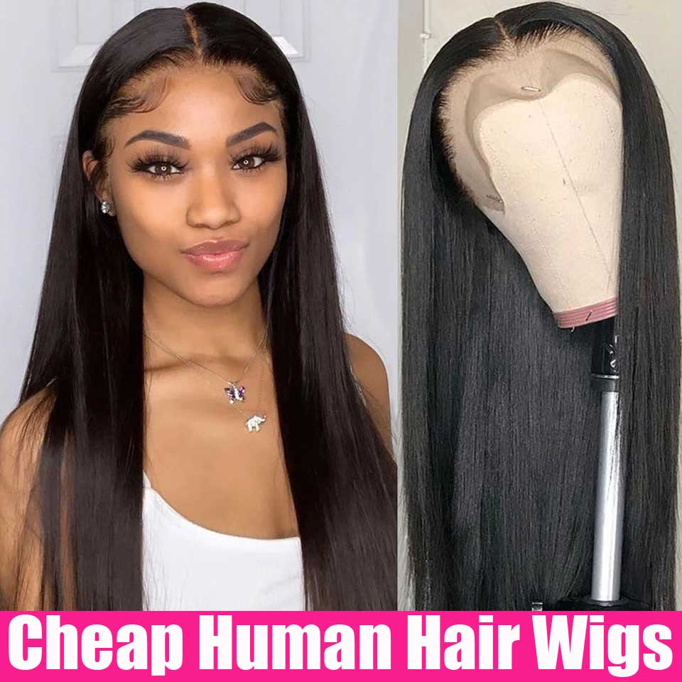 Cheap 5x5 Lace Closure Wig 13x6 HD Transparent Lace Frontal Wigs HD Lace Front Human Hair Wigs Brazilian Straight Lace Front Wig