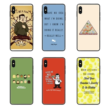 Funny Parks And Recreation TPU Black Soft Phone Cover Case For Xiaomi Mi Note A1 A2 A3 5 5s 6 8 9 10 SE Lite Pro Ultra Les image
