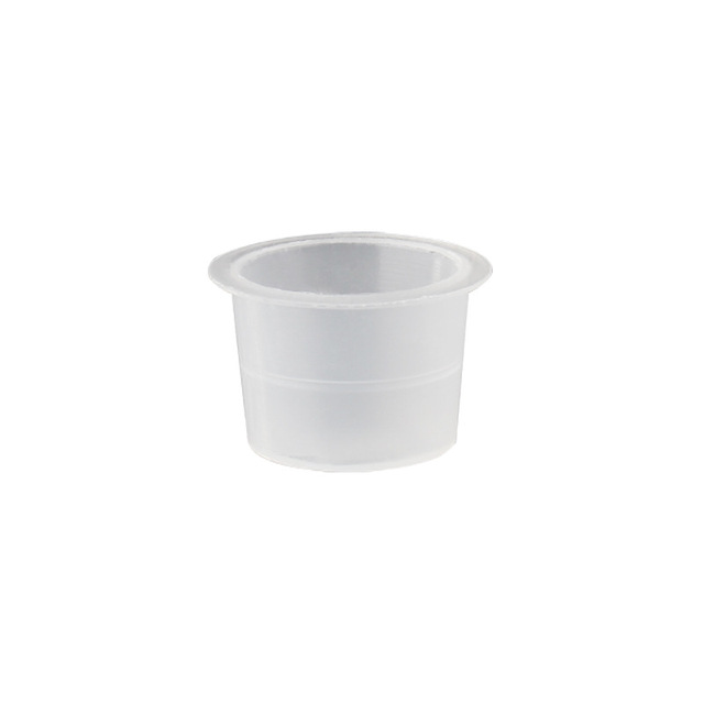 100pc S/M/L Plastic Disposable Microblading Tattoo Ink Cups Permanent Makeup Pigment Clear Holder Container Cap Tattoo Accessory 6