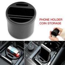 Car Storage Box Mini Car Seat Gap Storage Box Organizer Coin Phone Cup Holder Multifunction Cup Shape  Car Storage Box
