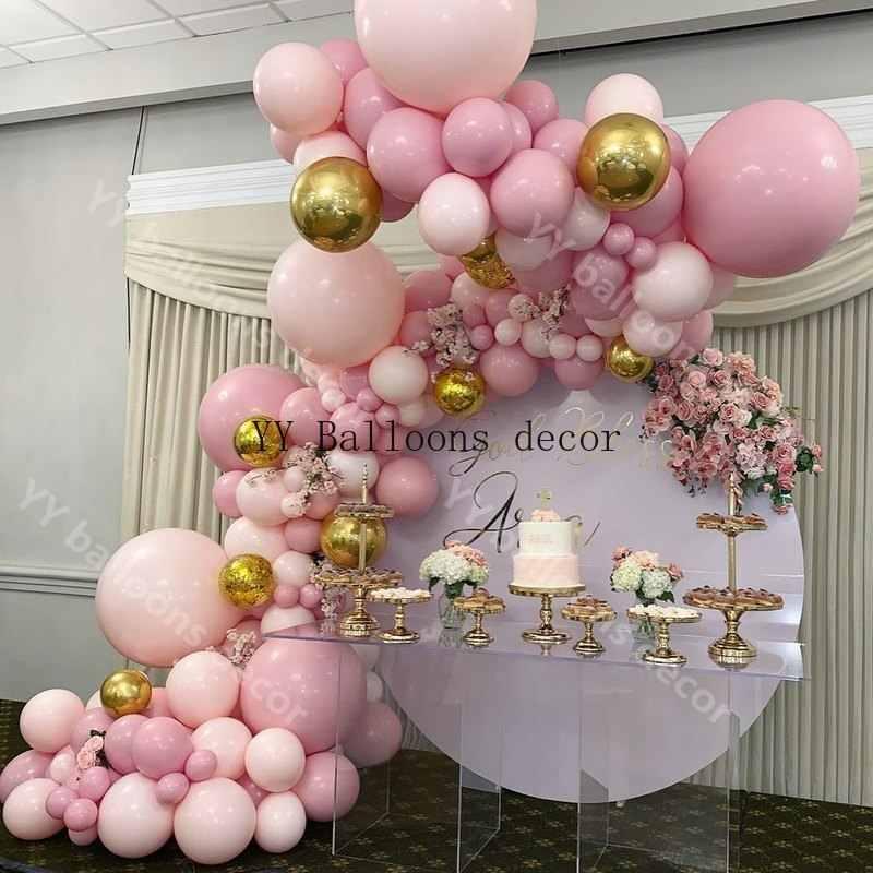 169pcs Ballon Garland Arch Kit DIY Baby Roze Perzik 4D Gold Ballonnen voor Verjaardag Baby Shower Bruiloften Party Decoratie