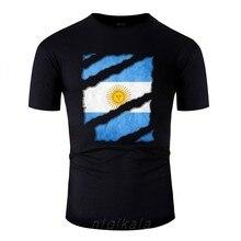 Impressão argentina bandeira nacional fã camisa vamos futbol t shirt masculino outfit camisas masculinas comic homme