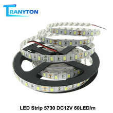 Tira de LED 5630 5730 blanco cálido/blanco frío DC12V tira de luz LED Flexible más brillante que 5050 cinta LED impermeable 60LED/M 5 m/lote.(China)