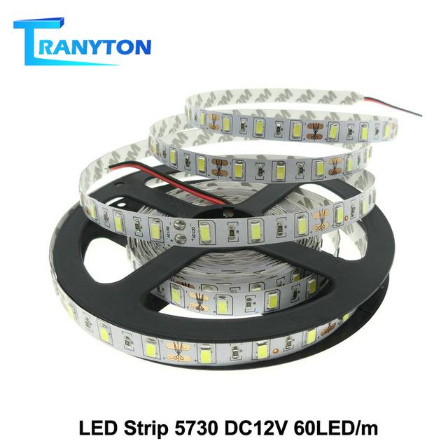 LED Strip 5630 5730 Warm White/Cold White DC12V Flexible LED Strip Light Brighter Than 5050 LED Tape Waterproof 60LED/M 5m/lot.