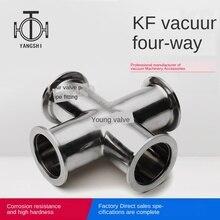 KF вакуумный быстросъемный четырехходовой зажим фланец четырехходовой вакуумный соединитель kf10 KF16 KF25 KF40 KF50