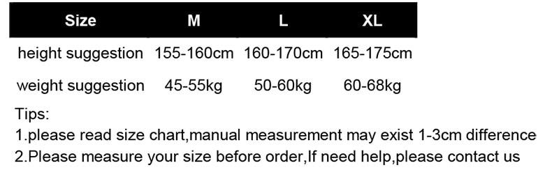 男女身高体重女M-XL