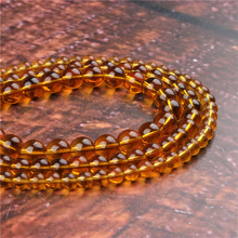Fashion Ocher Glass Round Beads Loose Jewelry Stone 4/6/8/10 / 12mm Suitable For Making Jewelry DIY Bracelet Necklace
