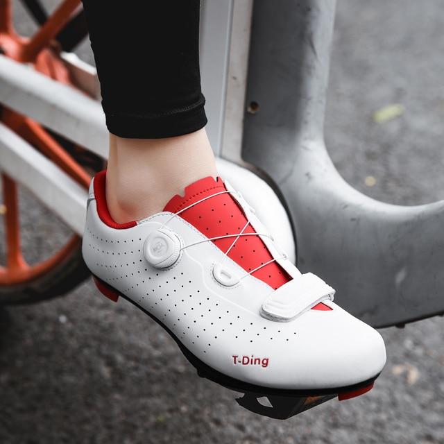 Sapatos de ciclismo de bicicleta sapatos de ciclismo anti-deslizamento respirável homem de corrida de estrada sapatos de bicicleta atlética sapatos de auto-bloqueio sapatos de ciclismo 6