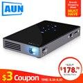 Мини-проектор AUN D5S, Android 7,1 (дополнительно 2G + 32G) wifi, аккумулятор 5000 mAH, Портативный светодиодный проектор для видео 1080 P, 3D проектор