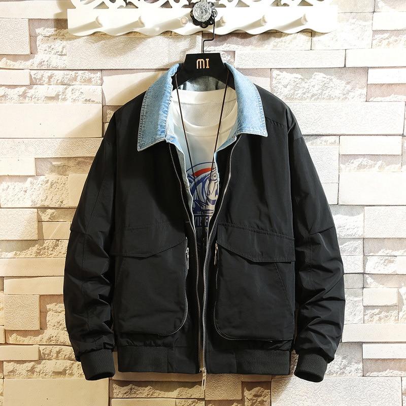 Клетчатая уличная зимняя куртка цвета хаки для мужчин 2019 теплая уличная однотонная Повседневная куртка корейский стиль модное мужское пал... - 4