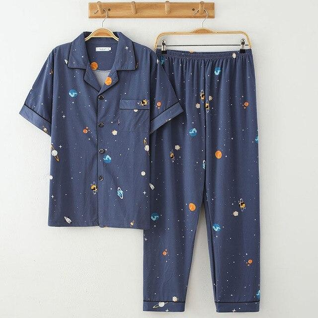 Пижама мужская с коротким рукавом 2