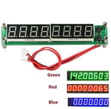RF Signal Frequency Counter Cymometer Blue/Red/Green 8 Bit Tube LED Digital Tester 0.1MHz to 60MHz 20MHz to 2400MHZ 2.4GHz Meter