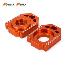 Axle-Block EXCF Motorcycle KTM Rear CNC for SX XCW 85/125-150/200-250/.. Chain Adjuster
