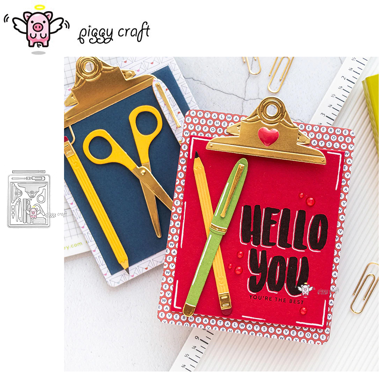Piggy Craft Metal Cutting Dies Cut Die Mold Book Folder Notebook Scrapbook Paper Craft Knife Mould Blade Punch Stencils Dies