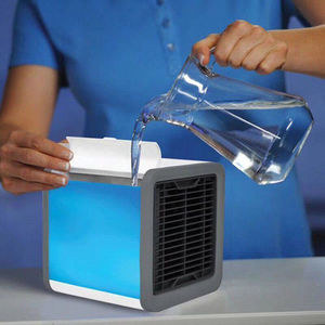 Image 3 - Air Cooler  Mini Air Conditioner Solar Fan Mine Fan Air Personal Space Cooler Air Conditioner Fan Air Cooling Fan Home fan