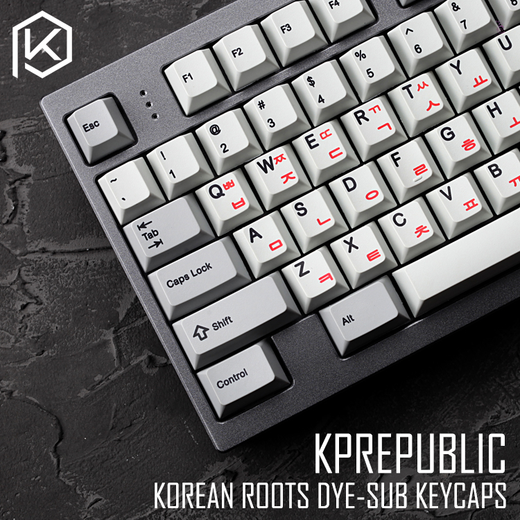 Kprepublic 139 Korea Korean Root Font Cherry Profile Dye Sub Keycap Set PBT For Gh60 Xd60 Xd84 Cospad Tada68 Rs96 87 104 Fc660
