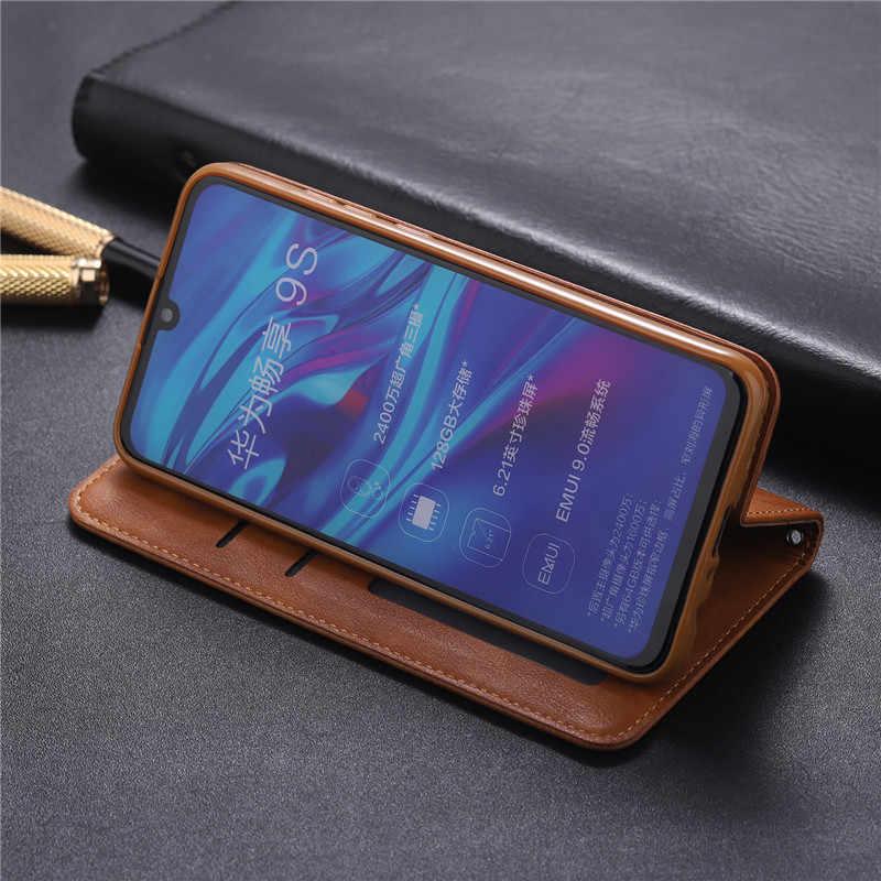 المغناطيسي جلدية حافظة لهاتف Huawei Y5 Y6 Y7 Y9 P الذكية زائد 2019 فليب أغطية جلد لهواوي الشرف 10 20 P30 برو لايت حالة كابا