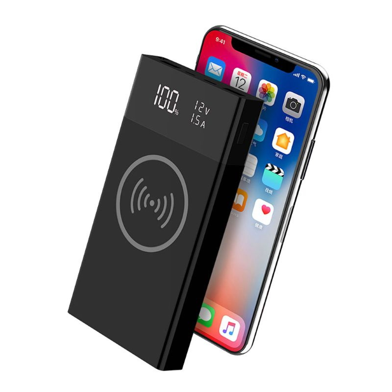 6 x 18650 Battery DIY Qi Wireless Charger QC3.0 USB Type C PD Power Bank Box Case No Battery|Mobile Phone Chargers| |  - title=