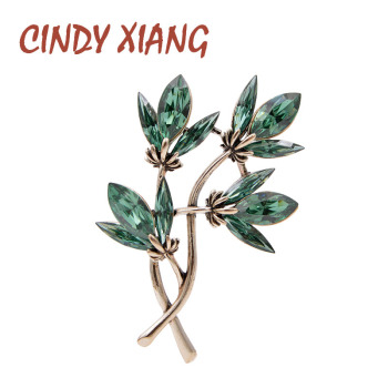 CINDY XIANG Crystal Flower Brooches For Women Vintage Fashion Simple Design Pin Winter Jewelry 3 Colors Avaible Brooch Pin Gift cindy xiang blue shark brooch women and men brooch pin unisex enamel brooches vivid animal jewelry badages fashion accessories