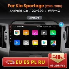 AWESAFE PX9 para KIA Sportage 3 2010-2016 auto Radio Multimedia reproductor de Video GPS de navegación Android 10,0 No 2din 2 din dvd