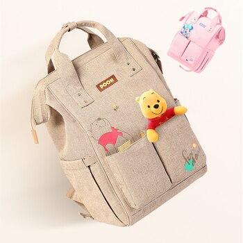 Disney USB Diaper Bag Backpack Baby Care Bags Bottle Warmer Mummy Backpack Maternal Minnie Mickey Bolsa Maternity Backpack Diaper Bags
