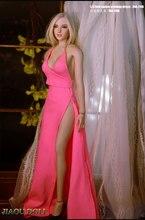 Вечернее платье с красной ковровой дорожкой, розовая длинная юбка, платье принцессы, одежда для экшн-фигурки 12 дюймов Phicen Tbleague, масштаб 1/6