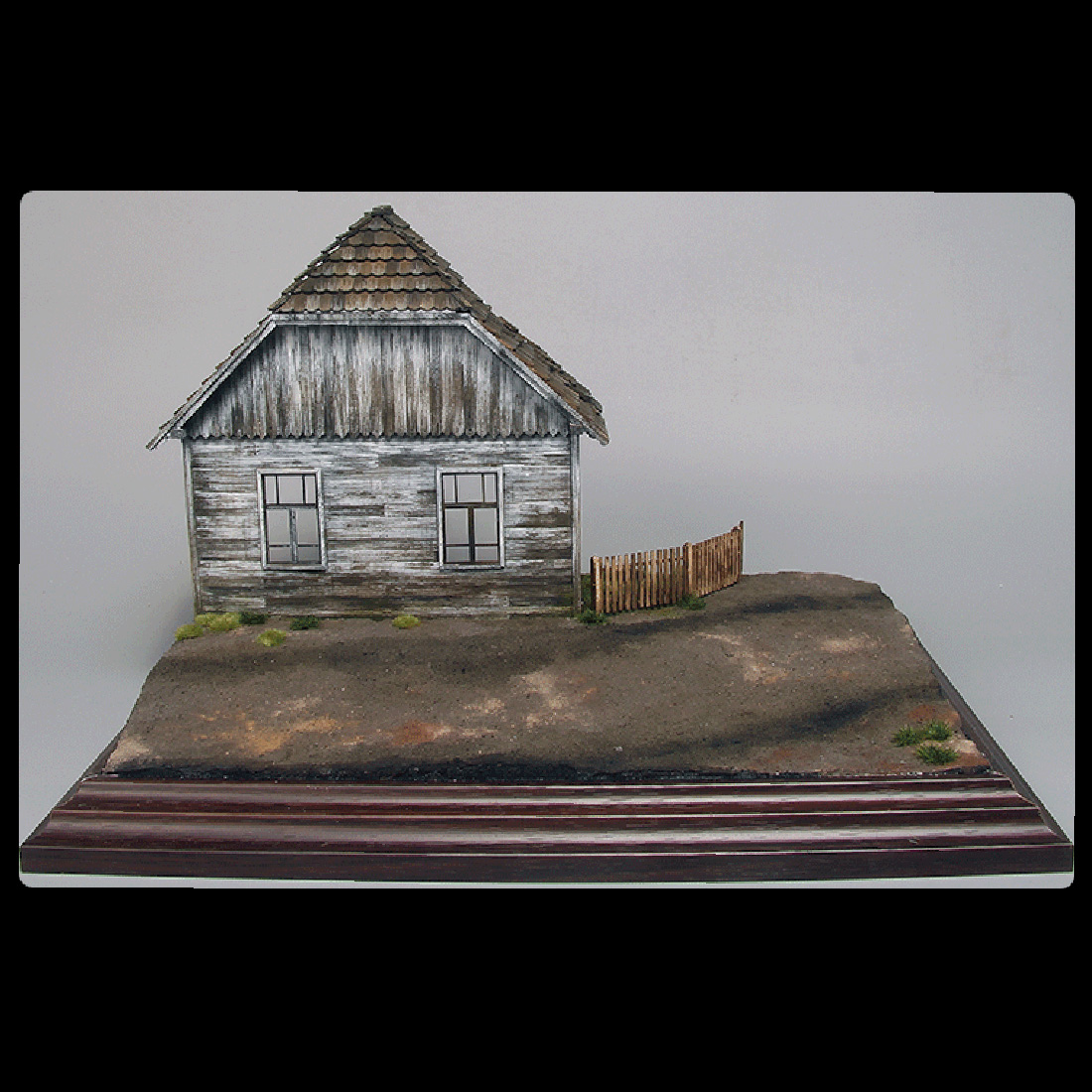 <font><b>1/35</b></font> Sand Table Platform Scene Assembly <font><b>Building</b></font> <font><b>Model</b></font> Decor - Military European Wooden Cottage No.2 image