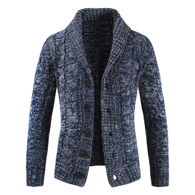 Oufisun Winter Autumn New Fashion Thick Warm Sweater Cardigan Jumpers Men Jacquard Knit Cashmere Cotton Button Coats Sweater Men