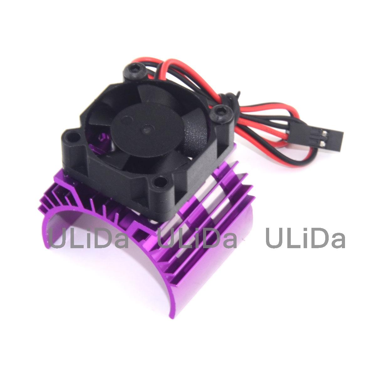 Hot On Sale RC Parts Electric Car <font><b>Motor</b></font> Heatsink Cover + Cooling <font><b>Fan</b></font> for 1:10 HSP RC Car <font><b>540</b></font> 550 3650 Size <font><b>Motor</b></font> Heat Sink image