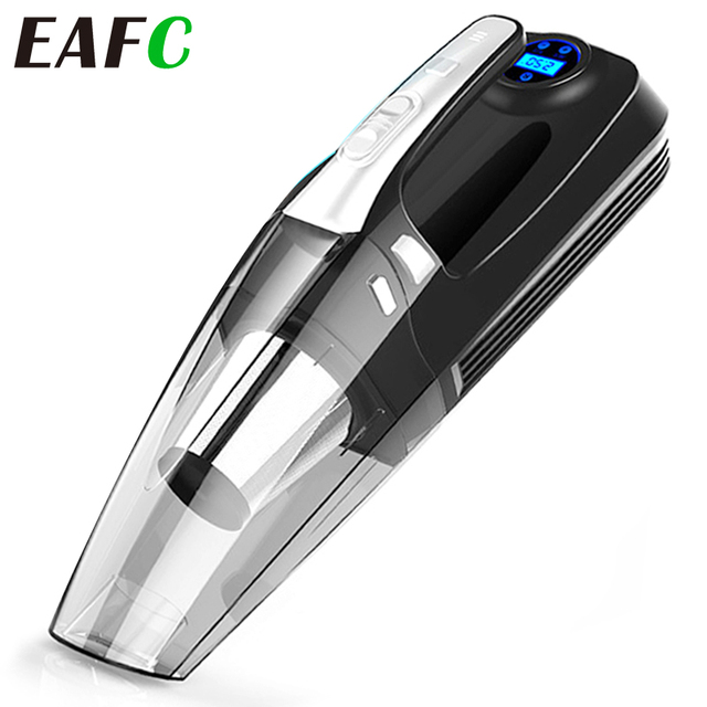 4 in 1 Multi Function Car Vacuum Cleaner with Digital Display Portable Car Dual Use Car Auto Inflatable Pump Air Compressor