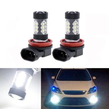 2x H8 H11 Led Bulb Fog Lights Car Lamp Auto Light Bulbs For FORD MONDEO MK3 MK4 C-MAX S-MAX FOCUS 01+ FUSION - discount item  28% OFF Car Lights