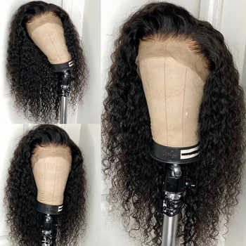 13*4 Water Wave Lace Front Human Hair Wigs For Women 130% PrePlucked Brazilian Remy Hair Glueless With Baby Hair Charming Queen
