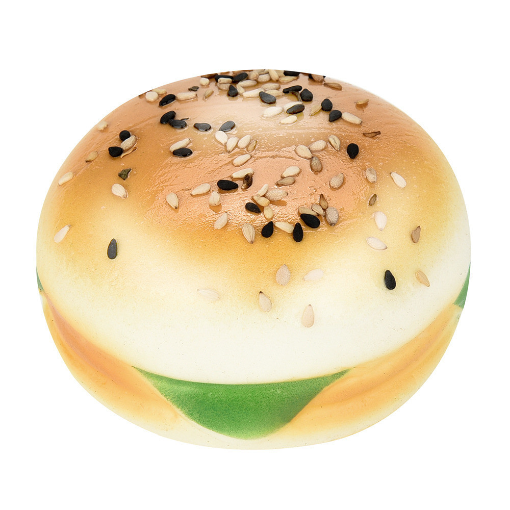 Sesame Burger Slow Rising Squeeze Toy Collection Cure Gift Window Display Photography Props Kitchen Toy Squeeze Food Toys #B